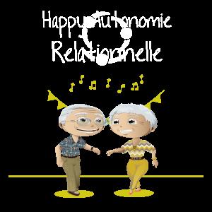 Deux seniors dansant ensemble